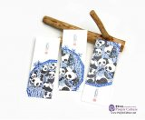 Hand-Painted Bookmark: Cute Panda (3 pieces)
