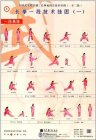 Textbook Series of Chinese Wushu Duanwei System: Changquan Elementary Duan (1st Duan, 2nd Duan, 3rd Duan) Wall Chart