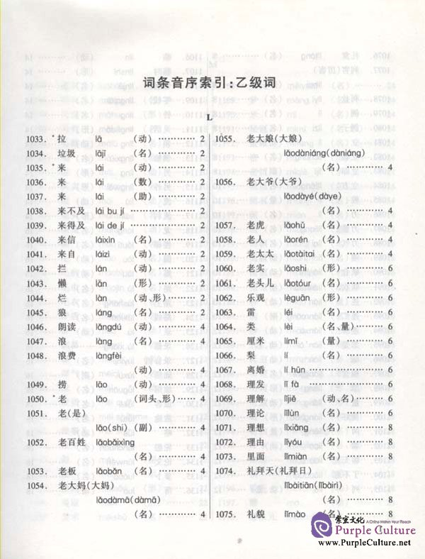 Sample pages of Brushing up Your Vocabulary for HSK vol.3 (ISBN:9787561912355 / 7561912358)