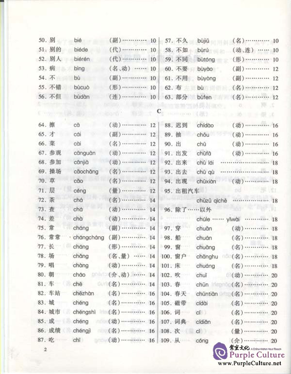 Sample pages of Brushing up Your Vocabulary for HSK vol.1 (ISBN:7561911327)