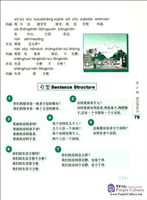 Sample pages of 40 LESSONS FOR BASIC CHINESE COURSE (first volume) (ISBN:9787561731031)