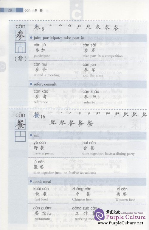 Sample pages of 1000 Frequently Used Chinese Characters (ISBN:9787561927038)