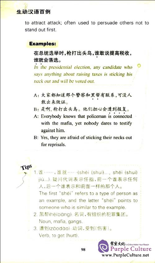 Sample pages of 100 Practical Chinese Series Manual: 100 Vivid Chinese Expressions (with 1 MP3) (ISBN:9787301195161,7301195168)
