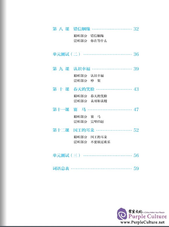 Table of contents: Intermediate Chinese Listening (2nd Edition) I (with Listening Scripts and Reference Answers, MP3) (ISBN:9787561936290)
