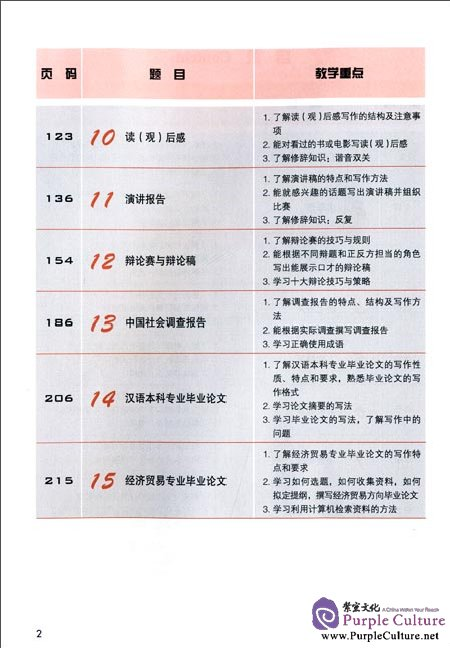 Table of contents: Jump High - A Systematic Chinese Course: Writing Textbook Ⅱ (ISBN:9787561936221)