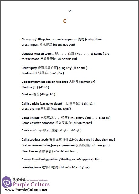 Sample pages of English Common Expressions - How to Say it in Chinese? (Ebook) Vol 2