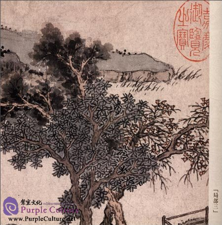Sample pages of Selected Ancient Chinese Paintings: Admiring Chrysanthemums (Shen Zhou [Ming Dynasty]) (ISBN:9787514906400)