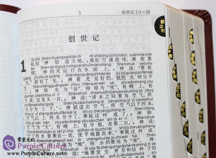 Sample pages of Chinese Pinyin Bible: The Old Testament & New Testament (ISBN:9788990233370)