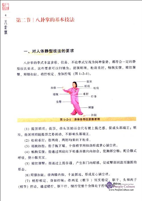 Sample pages of Textbook Series of Chinese Wushu Duanwei System: Baguazhang (with DVD) (ISBN:9787040258325)