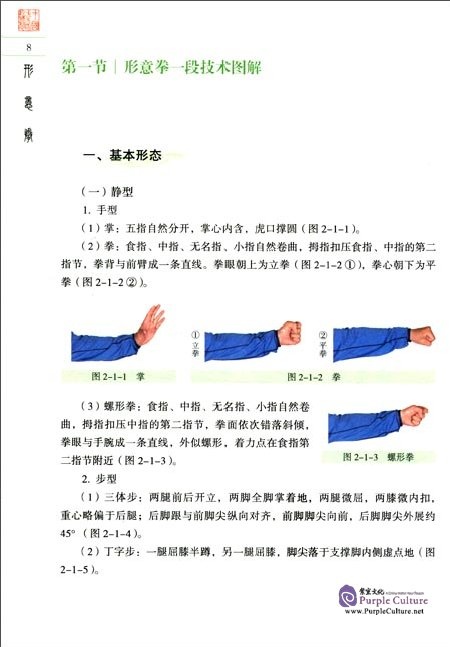 Sample pages of Textbook Series of Chinese Wushu Duanwei System: Xingyiquan (with DVD) (ISBN:9787040258226)