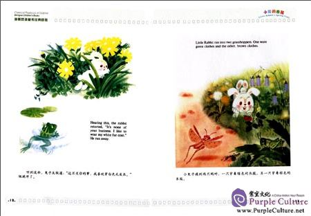 Sample pages of Classical Playback of Dolphin Bilingual Children's Books: Little Rabbit's Spring Coat (ISBN:9787511034397)