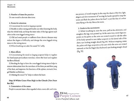 Sample pages of Health Qigong: 12-Step Daoyin Health Preservation Exercises (with CD) (ISBN:7119078690, 9787119078694)