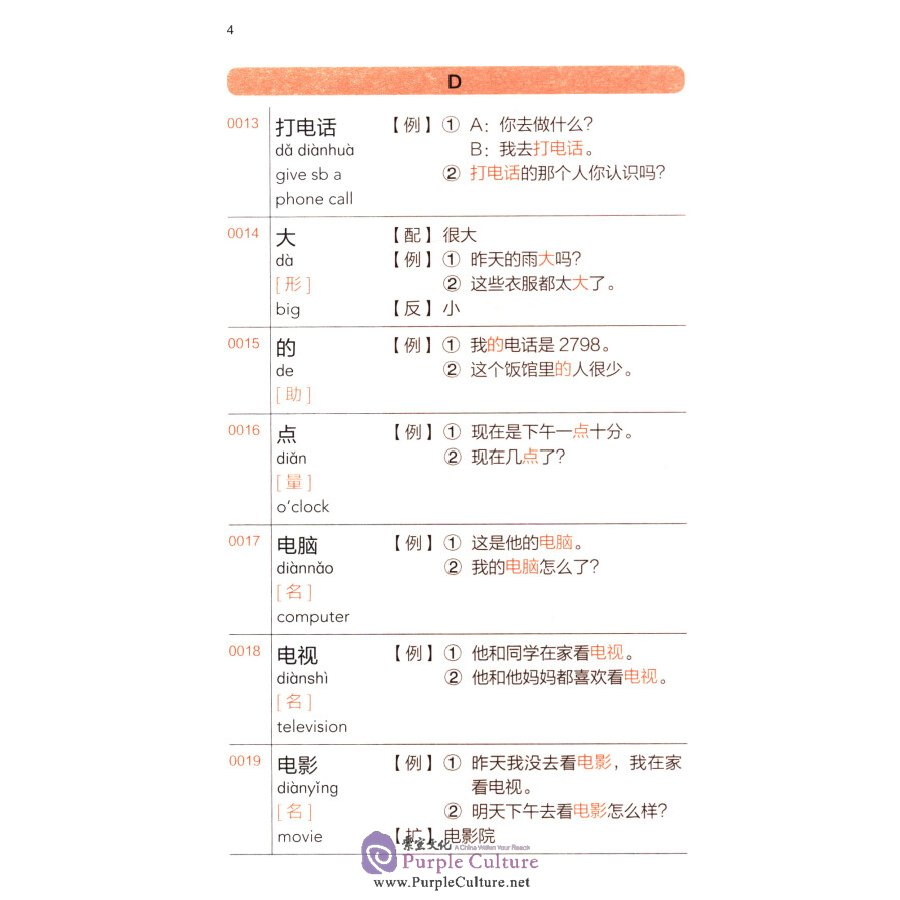 Sample pages of HSK Vocabulary Workbook (Vocabulary of Level 1-3) (ISBN:7513596484, 9787513596480)