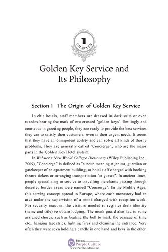 Sample pages of China's Golden Key Service Philosophy (ISBN:9787508538662)