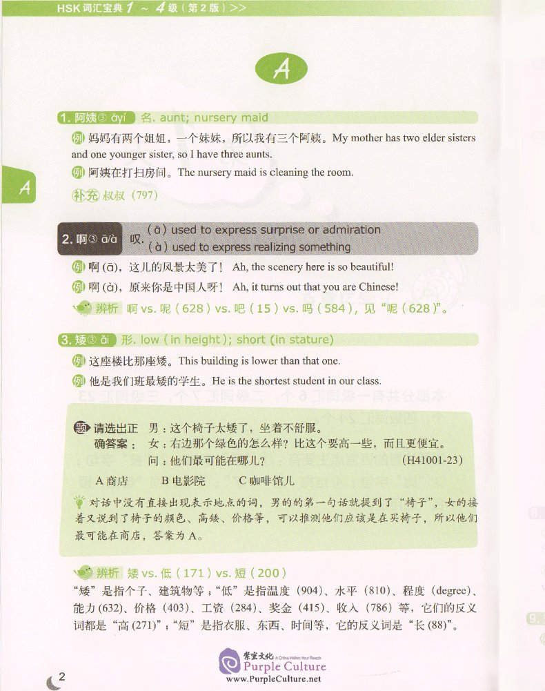 Sample pages of HSK Vocabulary Master (2nd Edition) Level 1-4 (ISBN:9787513572965)