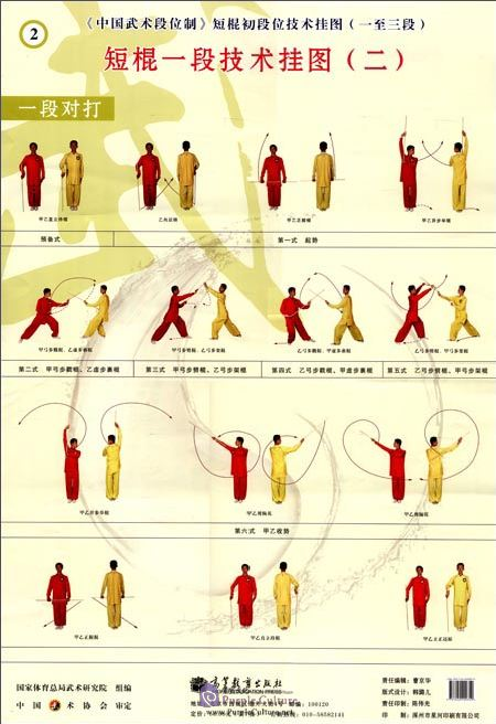 Sample pages of Chinese Wushu Duanwei System: Duangun Elementary Duan (1st Duan, 2nd Duan, 3rd Duan) Wall Chart (ISBN:9787040299359)