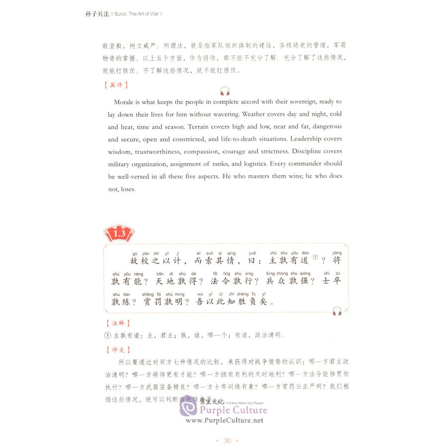 Sample pages of Sunzi:The Art of War (ISBN:9787119121635)