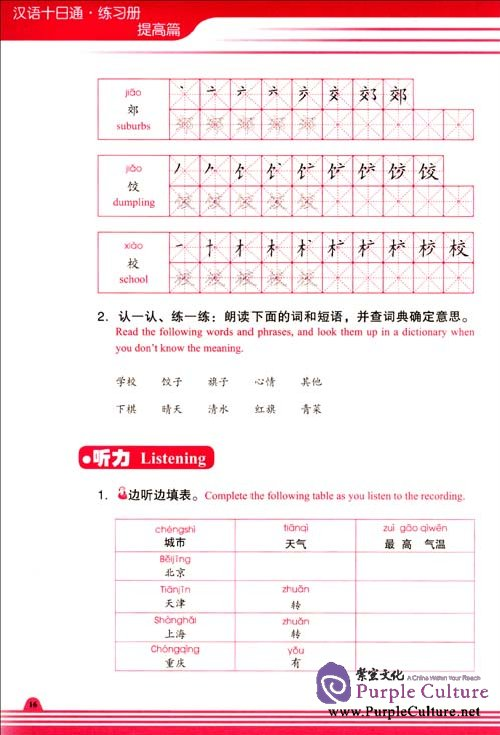Sample pages of Chinese in 10 Days Intermediate Level 3 Workbook (ISBN:9787100064859)