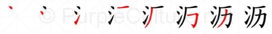 Stroke order image for Chinese character 沥