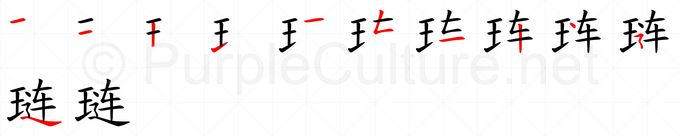 Chinese Word: 琏- Talking Chinese English Dictionary