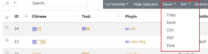 Introducing Chinese Vocabulary List Generator - Purple
