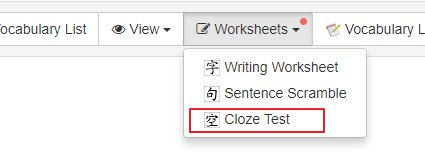 We Ve Just Added Cloze Text Worksheet Generation Function On The Chinese To Pinyin Zhuyin Converter And Sentences Tool